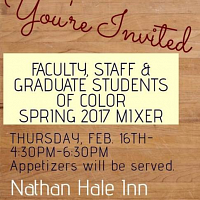 Faculty, Staff and Graduate Student of Color Mixer