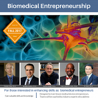 Biomedical Entrepreneurship Course - Fall 2017 - Register!