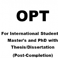 OPT for Master's and Doctoral Students with Thesis/Dissertation (Post-Completion)